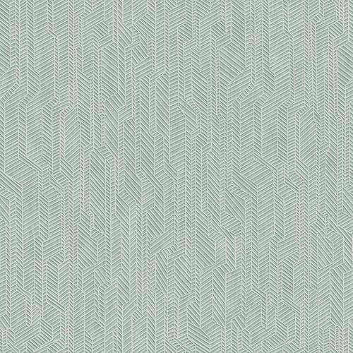 Dimensional Artistry Teal Metropolis Geometric Wallpaper
