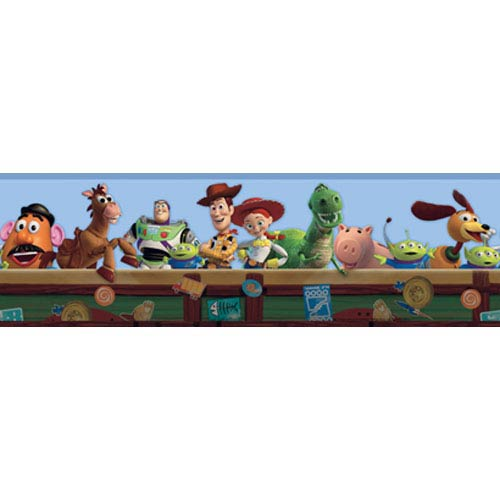 York Wallcoverings Walt Disney Kids toy Story Border