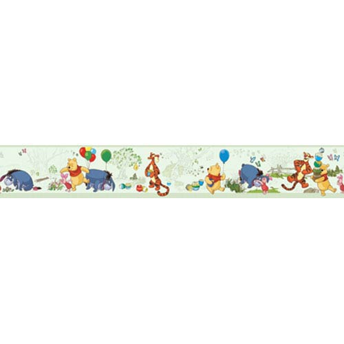 York Wallcoverings Walt Disney Kids Pooh and Friends toile Border
