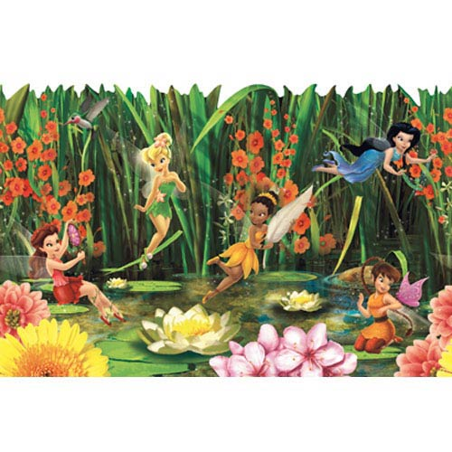 Walt Disney Kids Fairies and Lily Pads Border: Sample Swatch Only