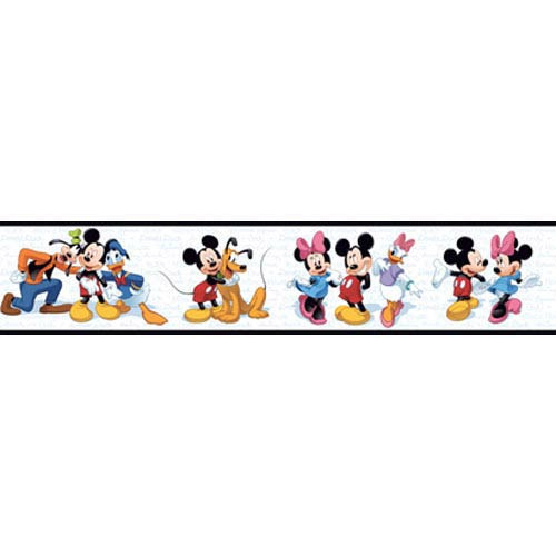 York Wallcoverings Walt Disney Kids Mickey and Friends Border: Sample Swatch Only