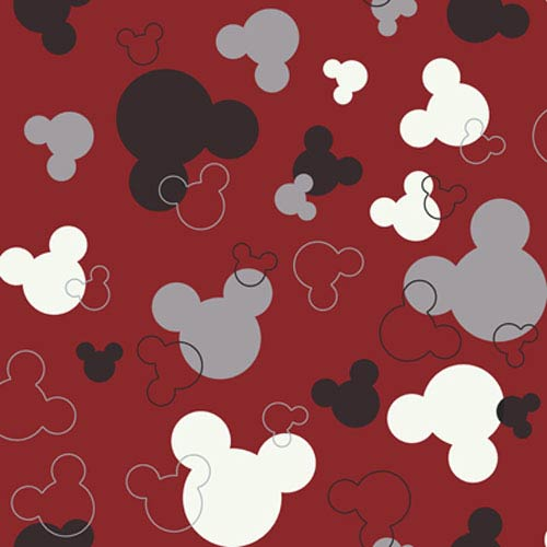 York Wallcoverings Walt Disney Kids Mickey Mouse Heads Wallpaper: Sample Swatch Only