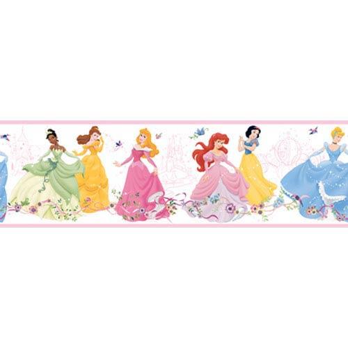 Walt Disney Kids Dancing Princess Border