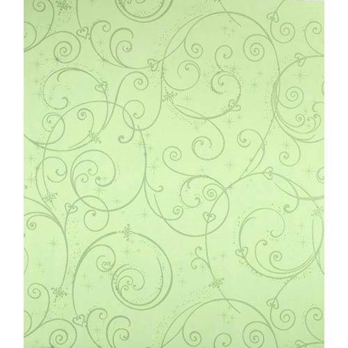 York Wallcoverings Walt Disney Kids Perfect Princess Scroll Wallpaper: Sample Swatch Only