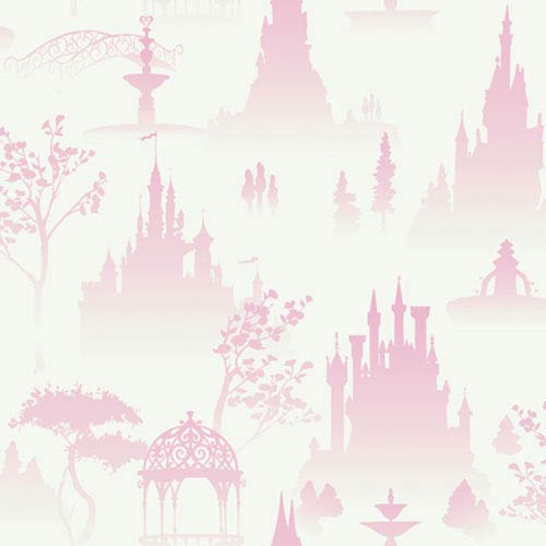 York Wallcoverings Walt Disney Kids Scenic Princess toile