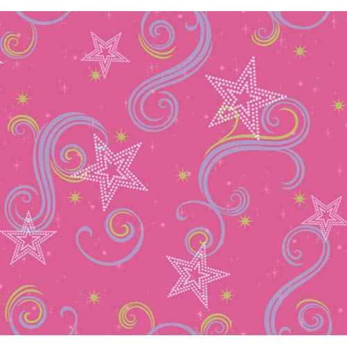 York Wallcoverings Walt Disney Kids Star Glitter Wallpaper: Sample Swatch Only