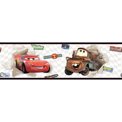 York Wallcoverings Walt Disney Kids Cars Lightning McQueen and Mater Border