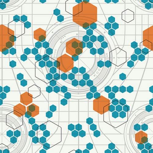 Walt Disney Kids Tron: Legacy Hexagon Wallpaper: Sample Swatch Only