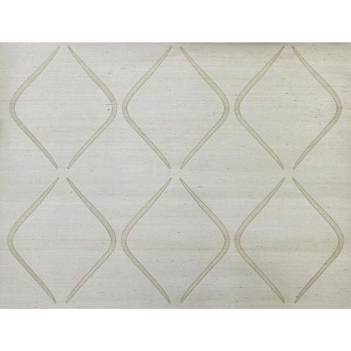 Candice Olson Natural Splendor Marquise White Wallpaper