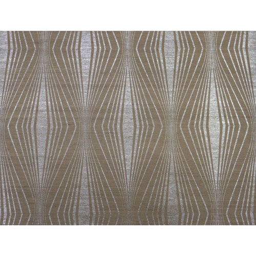 Candice Olson Natural Splendor Radiant Silver and Taupe Wallpaper