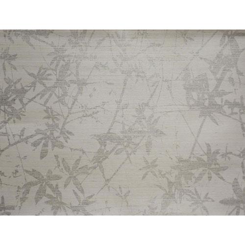 Candice Olson Natural Splendor Sylvan Silver and White Wallpaper