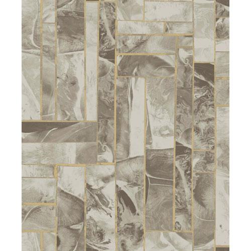York Wallcoverings Candice Olson Natural Splendor Moonbeams Taupe Wallpaper