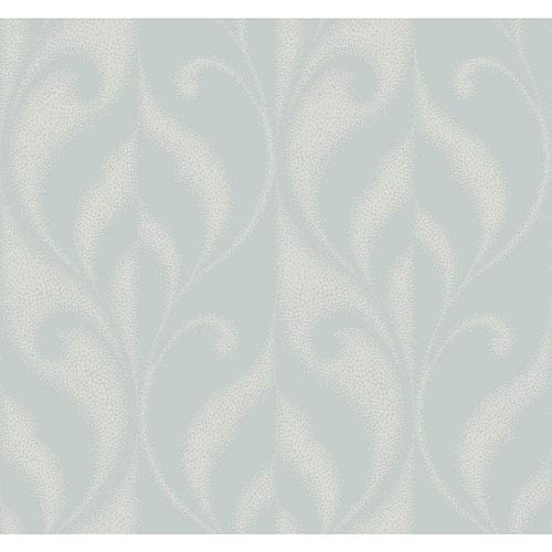 York Wallcoverings Modern Luxe Iced Silver Paradox Wallpaper: Sample Swatch Only
