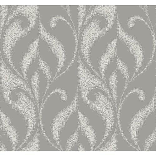 Modern Luxe Iced Pewter Paradox Wallpaper