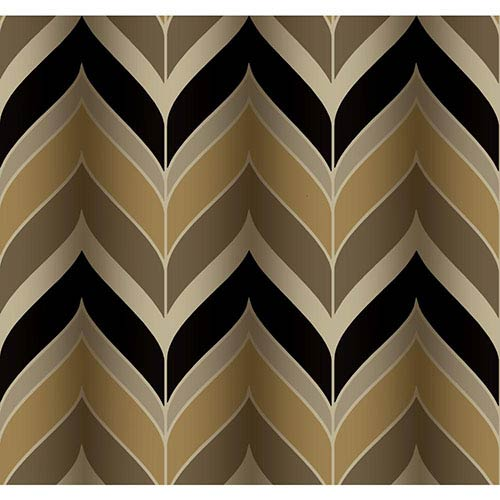 York Wallcoverings Modern Luxe Grey and beige Gatsby Wallpaper: Sample Swatch Only