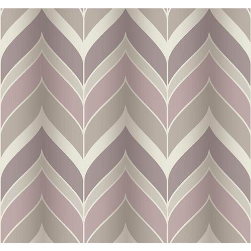 York Wallcoverings Modern Luxe Pink and Grey Gatsby Wallpaper: Sample Swatch Only