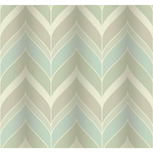 York Wallcoverings Modern Luxe Pale Mint Green and Faded Sky Blue Gatsby Wallpaper