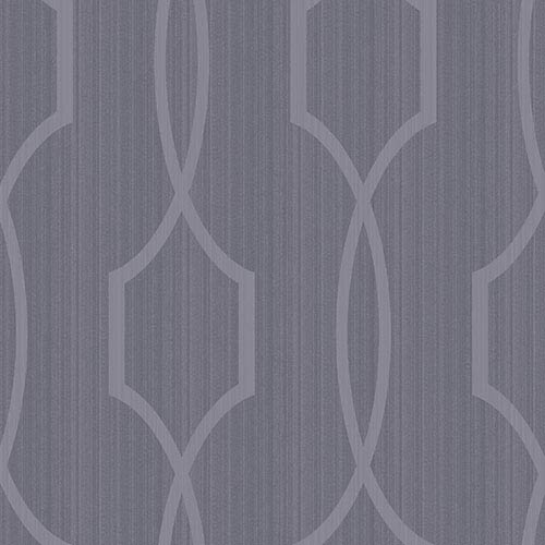 Modern Luxe Shining Silver and Slate Blue Palladian Wallpaper