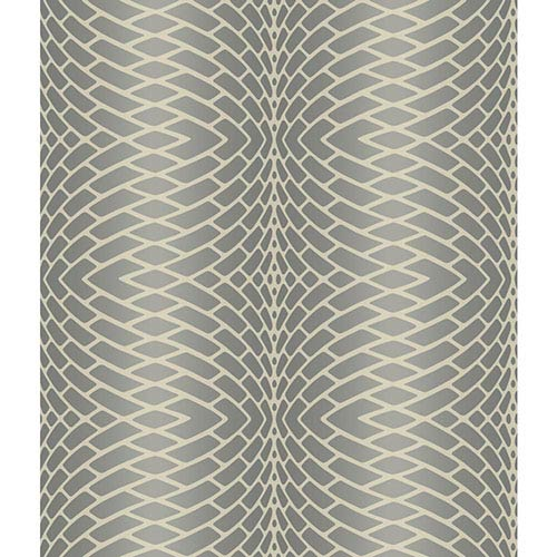 York Wallcoverings Modern Luxe Frosted Pewter and Frosted Silver Impulse Wallpaper