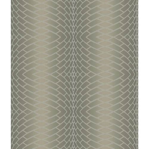 York Wallcoverings Modern Luxe Frosted Sherry Brown Impulse Wallpaper: Sample Swatch Only