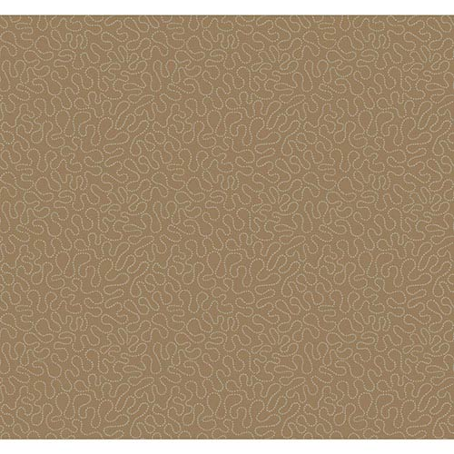 York Wallcoverings Modern Luxe Silver Crystalline Squiggle Sidewall Wallpaper