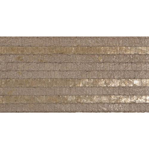 York Wallcoverings Modern Luxe Taupe Woven Capiz Wallpaper: Sample Swatch Only