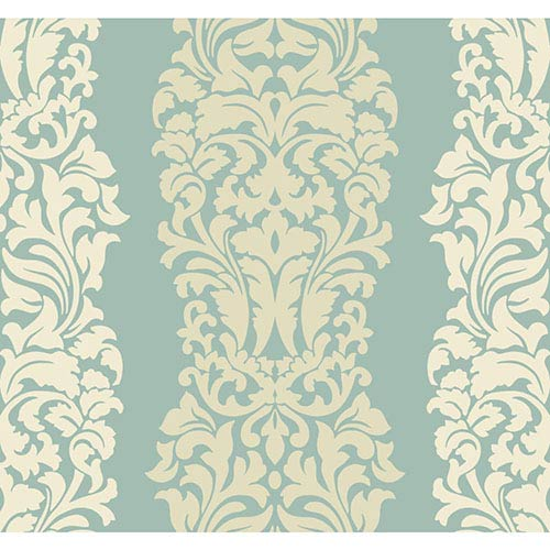 York Wallcoverings Modern Luxe Egg Shell and Butter Cream Frosting Harmony Wallpaper: Sample Swatch Only