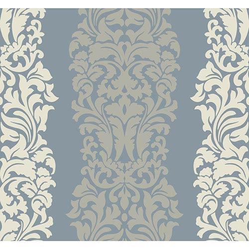 York Wallcoverings Modern Luxe Egg Shell and Whisper of Grey Harmony Wallpaper