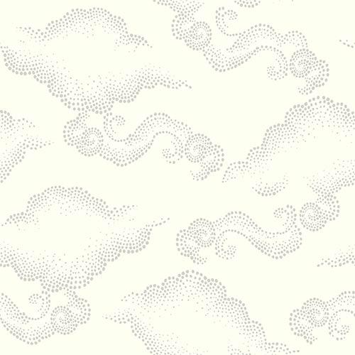 York Wallcoverings Dwell Studio Cloudburst Off Whites Wallpaper