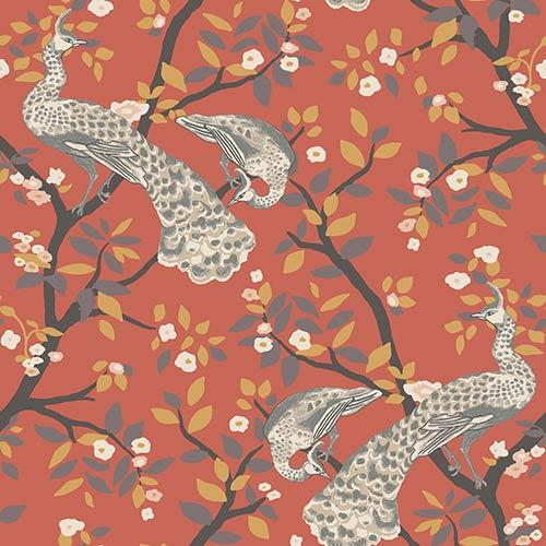 Dwell Studio Plume Oranges Wallpaper