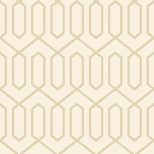 York Wallcoverings Dwell Studio Dotted Trellis White and Off Whites Wallpaper