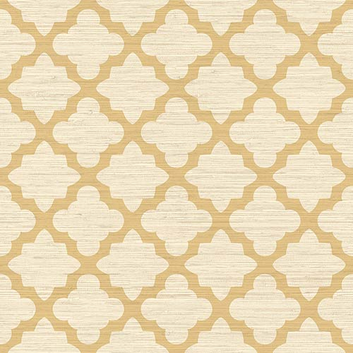 York Wallcoverings Dwell Studio Casablanca Beige Wallpaper- Sample Swatch Only
