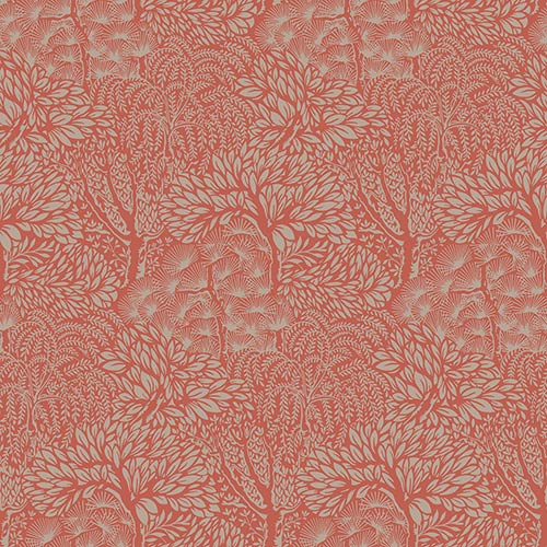 York Wallcoverings Dwell Studio Miyuki Oranges Wallpaper- Sample Swatch Only