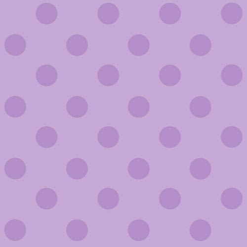 York Wallcoverings Disney Kids II Purple Polka Dot Wallpaper: Sample Swatch Only