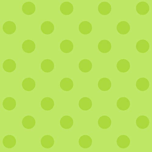 York Wallcoverings Disney Kids II Lime Green Polka Dot Wallpaper: Sample Swatch Only