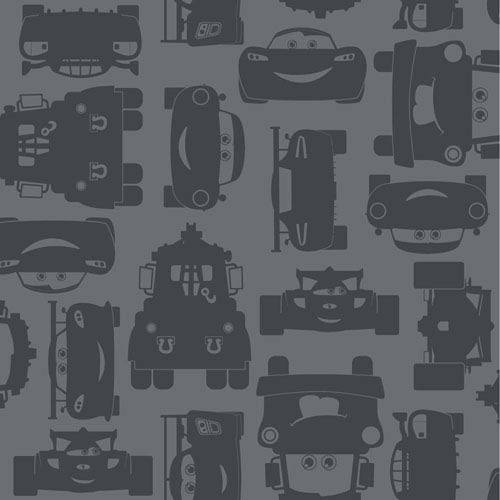 Disney Kids II Grey Lightning and Mater Wallpaper: Sample Swatch Only