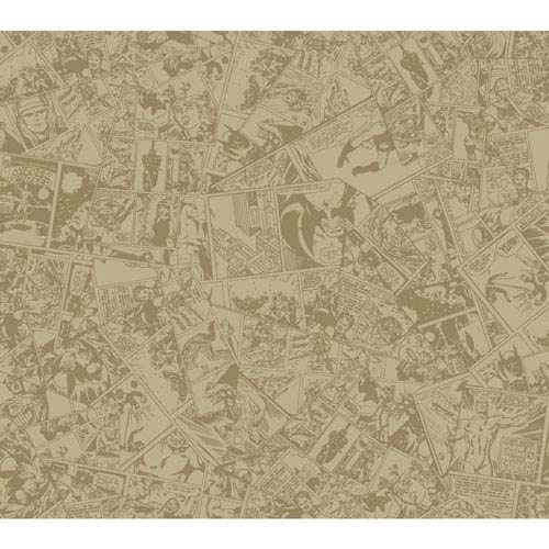 Disney Kids II Tan and Brown Comic Wallpaper : Sample Swatch Only