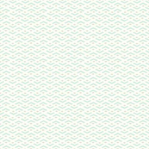 Dwell Studio Baby and Kids Savannah Blue, Black and White Wallpaper- Sample Swatch Only
