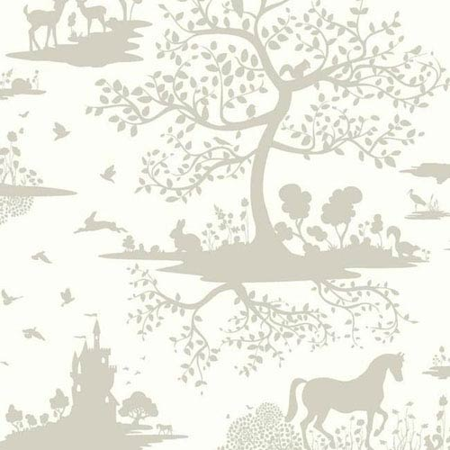 Dwell Studio Baby and Kids Fable Black and White Wallpaper