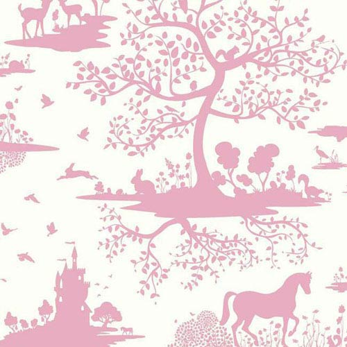 Dwell Studio Baby and Kids Fable Pink Wallpaper