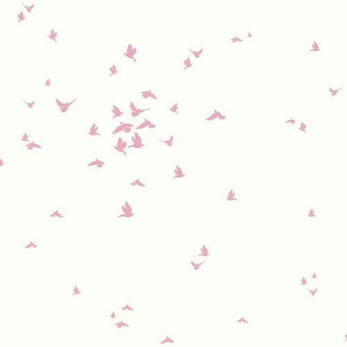 Dwell Studio Baby and Kids Fable Bird Pink Wallpaper- Sample Swatch Only