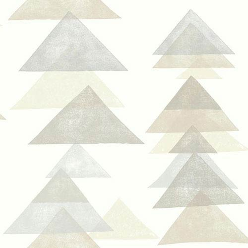 Dwell Studio Baby and Kids Triangles Black and Brown Wallpaper