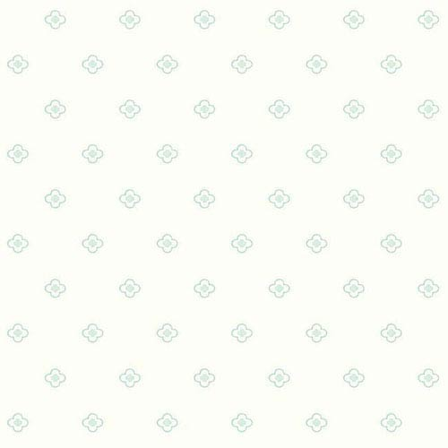 York Wallcoverings Dwell Studio Baby and Kids Quatrefoil Blue and Green Wallpaper