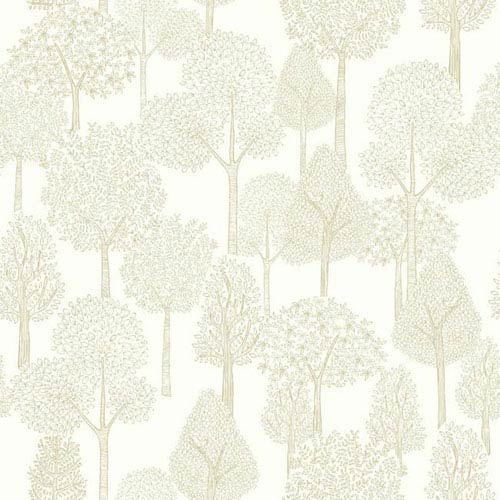 York Wallcoverings Dwell Studio Baby And Kids Treetops Metallic Wallpaper