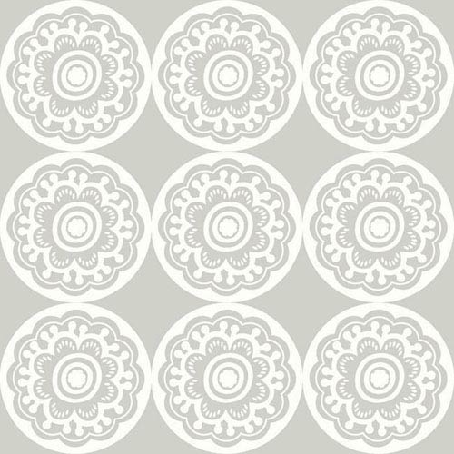 York Wallcoverings Dwell Studio Baby and Kids Zinnia Black and White Wallpaper- Sample Swatch Only