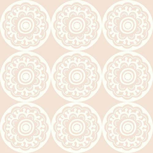 Dwell Studio Baby and Kids Zinnia Pink Wallpaper- Sample Swatch Only