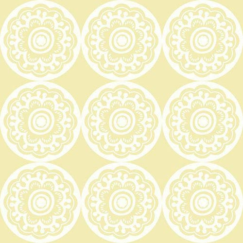 York Wallcoverings Dwell Studio Baby And Kids Zinnia White Yellow Wallpaper