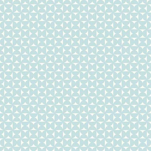 York Wallcoverings Dwell Studio Baby and Kids Milo Blue and White Wallpaper- Sample Swatch Only