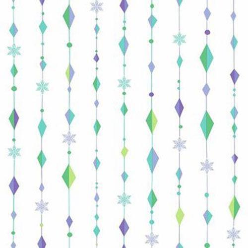 York Wallcoverings Disney Kids III Disney Frozen Snowflake Diamond Wallpaper