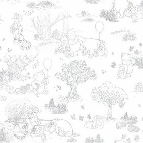Disney Kids III Pooh and Friends Toile Wallpaper